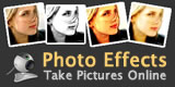 Take photos online with webcam effects.